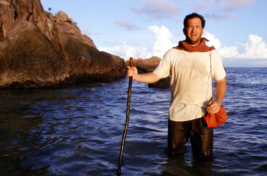 Als Chuck (Tom Hanks) als einziger Überlebender eines Flugzeugabsturzes auf einer einsamen Insel strandet, ahnt er noch nicht, dass er jahrelange Is... - Bildquelle: Francois Duhamel 2001 Twentieth Century Fox Film Corporation and Dreamworks LLC. All rights reserved
