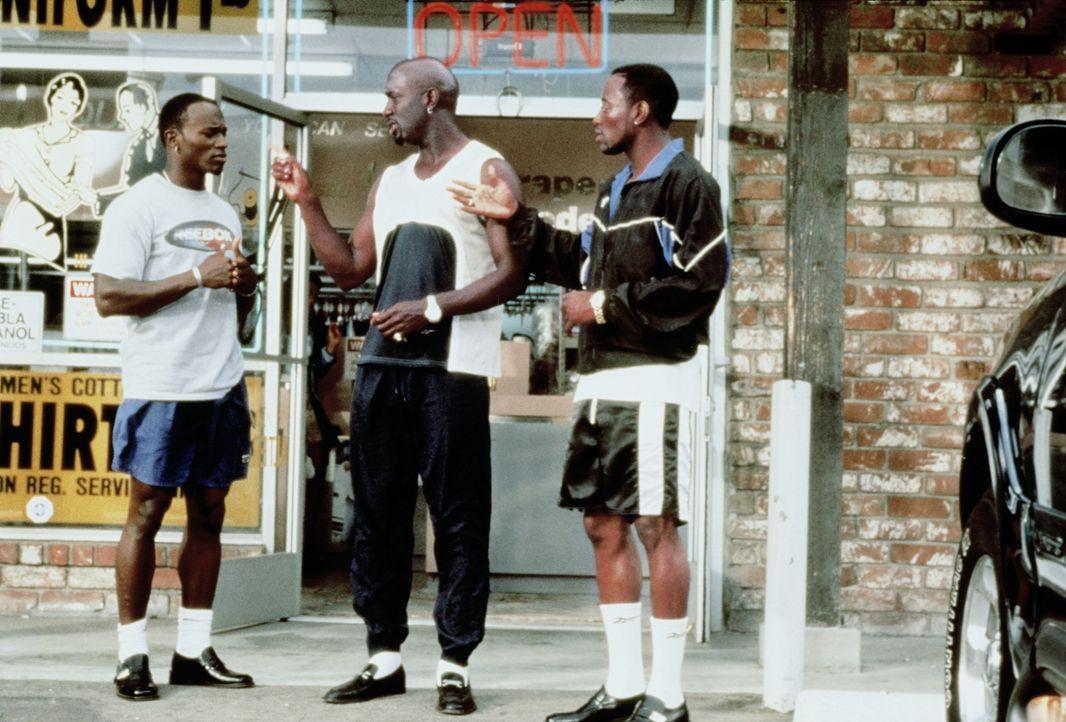 Bis dass der Tod uns scheidet: Roland (Taye Diggs, l.), Slim (Richard T. Jones, M.) und Mike (Omar Epps, r.) ... - Bildquelle: Paramount Pictures