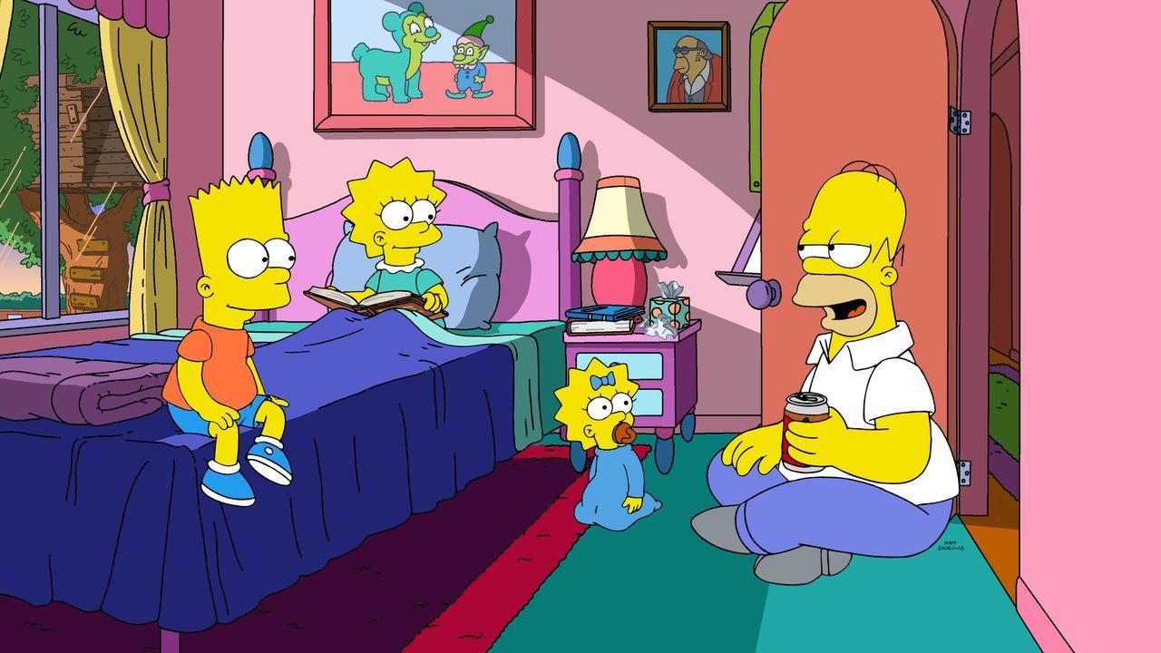 (v.l.n.r.) Bart; Lisa; Maggie; Homer - Bildquelle: 2020 by Twentieth Century Fox Film Corporation.