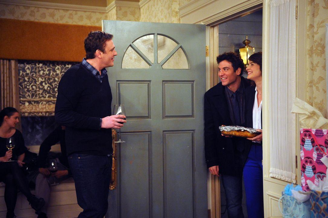 Partyalram im Hause Eriksen: Marshall (Jason Segel, l.), Ted (Josh Radnor, M.) und Robin (Cobie Smulders, r.) ... - Bildquelle: 20th Century Fox International Television