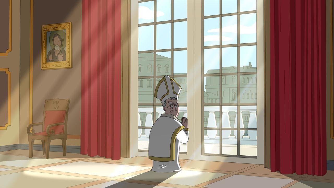 Wird Woodys Hintern aufgrund der Hämorrhoiden heilig gesprochen, oder nicht? Der Papst (Bild) muss eine schwierige Entscheidung treffen ... - Bildquelle: 2014 Twentieth Century Fox Film Corporation and Comedy Partners.  All rights reserved.