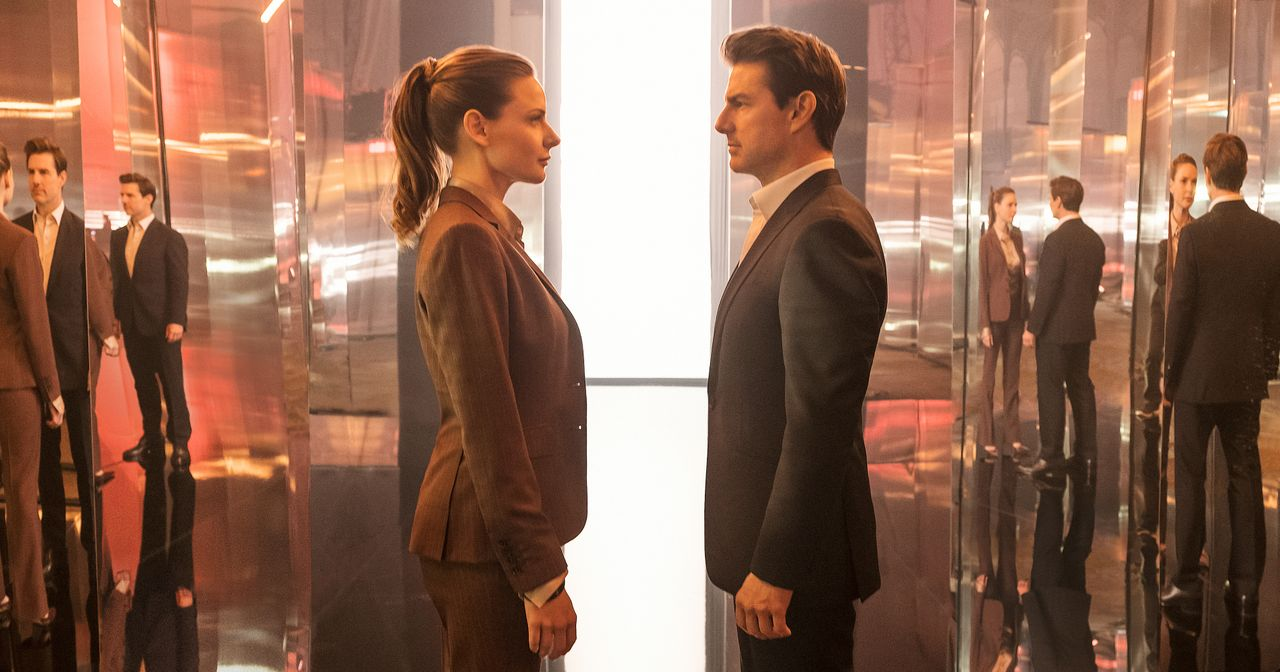 Ilsa Faust (Rebecca Ferguson, l.); Ethan Hunt (Tom Cruise, r.) - Bildquelle: Chiabella James 2018 Paramount Pictures. All rights reserved. / Chiabella James