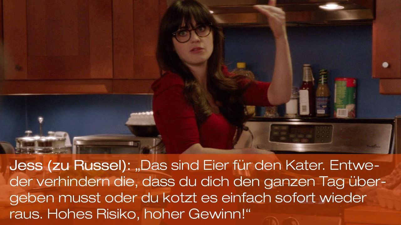 New Girl - Zitate - Staffel 1 Folge 20 - Jess (Zooey Deschanel) 1600 x 900 - Bildquelle: 20th Century Fox