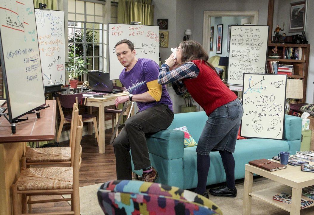 Beim Gemeinsein kriegen Sheldon (Jim Parsons ,l.) und Amy (Mayim Bialik, r.) die besten Ideen. Spornen sie sich so zu Höchstleistungen? - Bildquelle: 2016 Warner Brothers