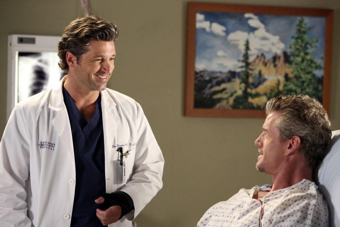 Rückblick: Mark (Eric Dane, r.) und Derek (Patrick Dempsey, l.) sind glücklich den Flugzeugabsturz überlebt zu haben ... - Bildquelle: ABC Studios