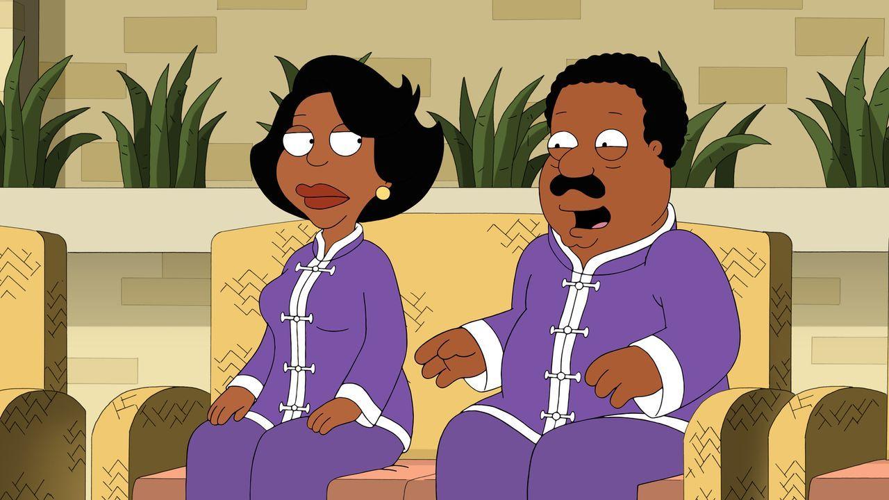 Die Fragestunde läuft für Donna (l.) und Cleveland (r.) nicht gerade gut, da kommen auch schon weitere Maßnahmen zur Ehe-Rettung ... - Bildquelle: 2015-2016 Fox and its related entities. All rights reserved.