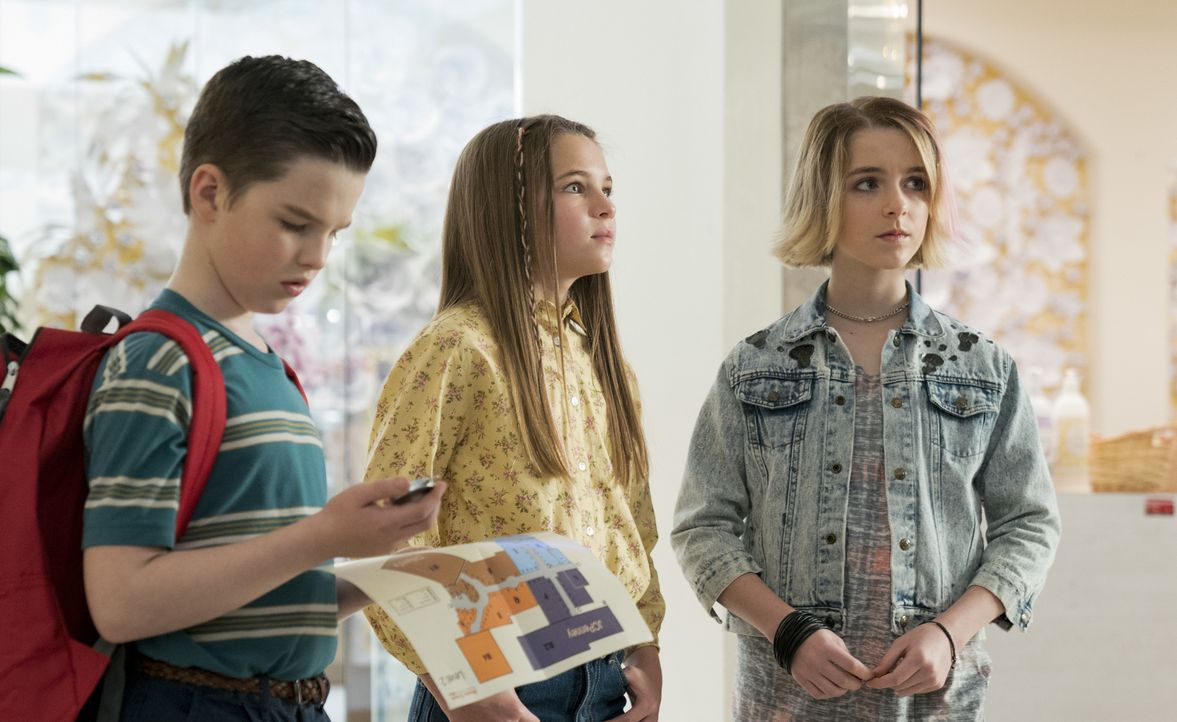 (v.l.n.r.) Sheldon Cooper (Iain Armitage); Missy Cooper (Raegan Revord); Paige (Mckenna Grace) - Bildquelle: 2019 Warner Bros. Entertainment Inc.  All Rights Reserved.