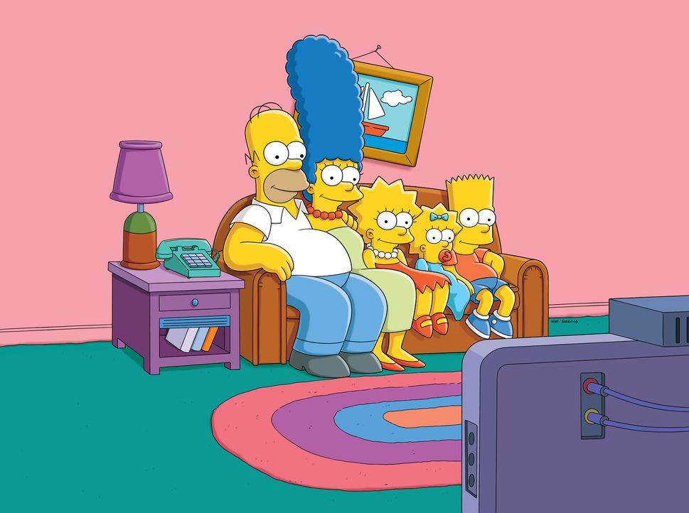 (v.l.n.r.) Homer; Marge; Lisa; Maggie; Bart - Bildquelle: 2017-2018 Fox and its related entities.  All rights reserved.