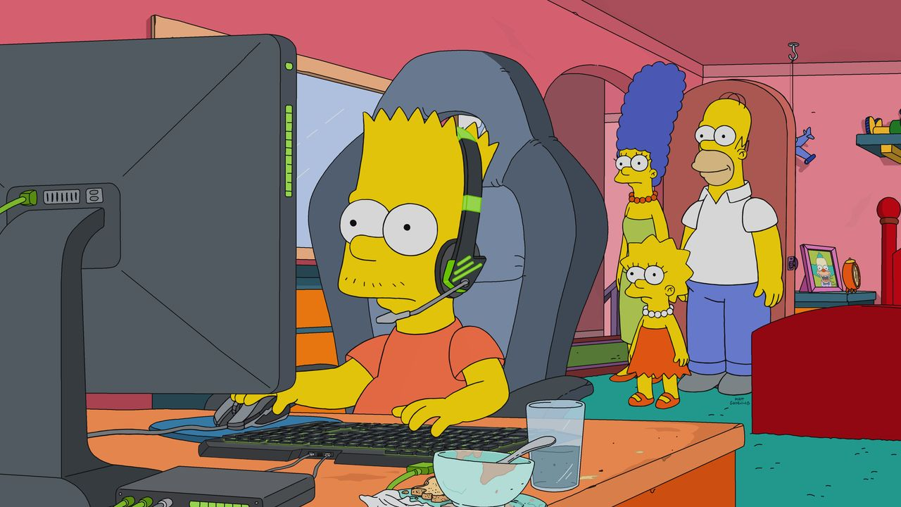 (v.l.n.r.) Bart; Marge; Lisa; Homer - Bildquelle: 2018-2019 Fox and its related entities.  All rights reserved.