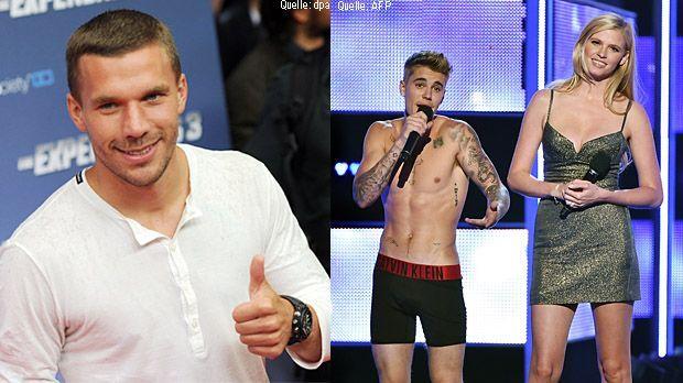 Lukas-Podolski-Top-dpa-Justin-Bieber-Flop-AFP - Bildquelle: dpa/ AFP