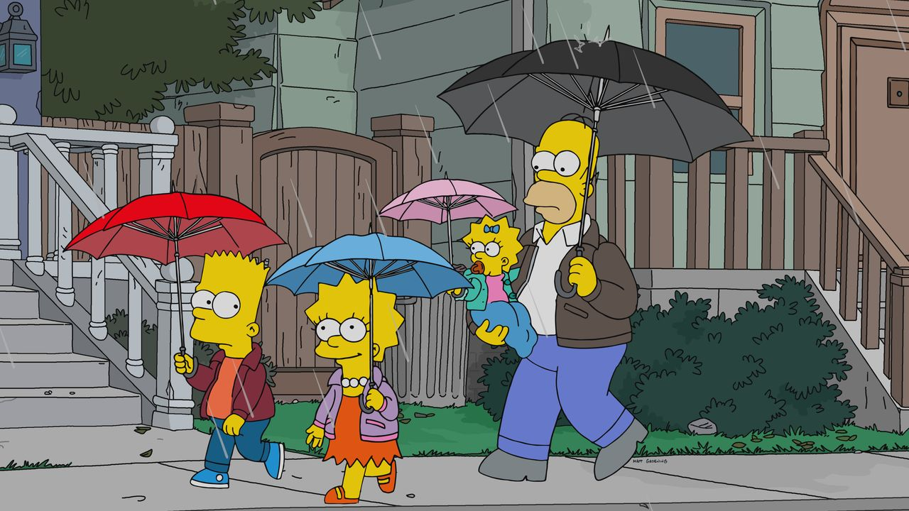 (v.l.n.r.) Bart; Lisa; Maggie; Homer - Bildquelle: 2019-2020 Twentieth Century Fox Film Corporation.  All rights reserved.