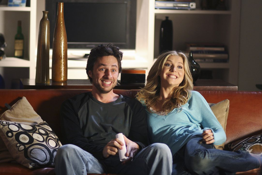 Genießen die Zweisamkeit: Elliot (Sarah Chalke, r.) und J.D. (Zach Braff, l.) ... - Bildquelle: Touchstone Television