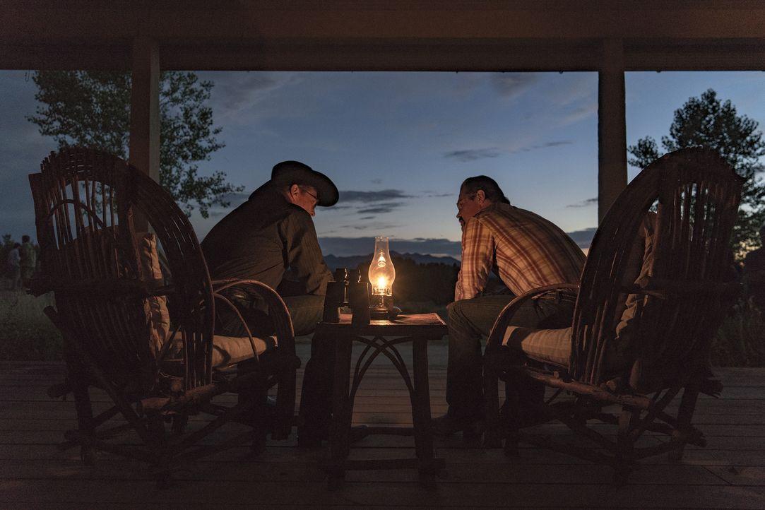 Duane (Jeff Bridges, l.); Eric Marsh (Josh Brolin, r.) - Bildquelle: Richard Foreman Studiocanal GmbH / Richard Foreman
