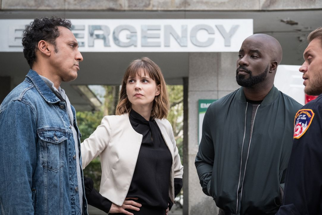 (v.l.n.r.) Ben Shakir (Aasif Mandvi); Kristen Bouchard (Katja Herbers); David Acosta (Mike Colter) - Bildquelle: Jeff Neumann 2019 CBS Broadcasting Inc. All Rights Reserved. / Jeff Neumann