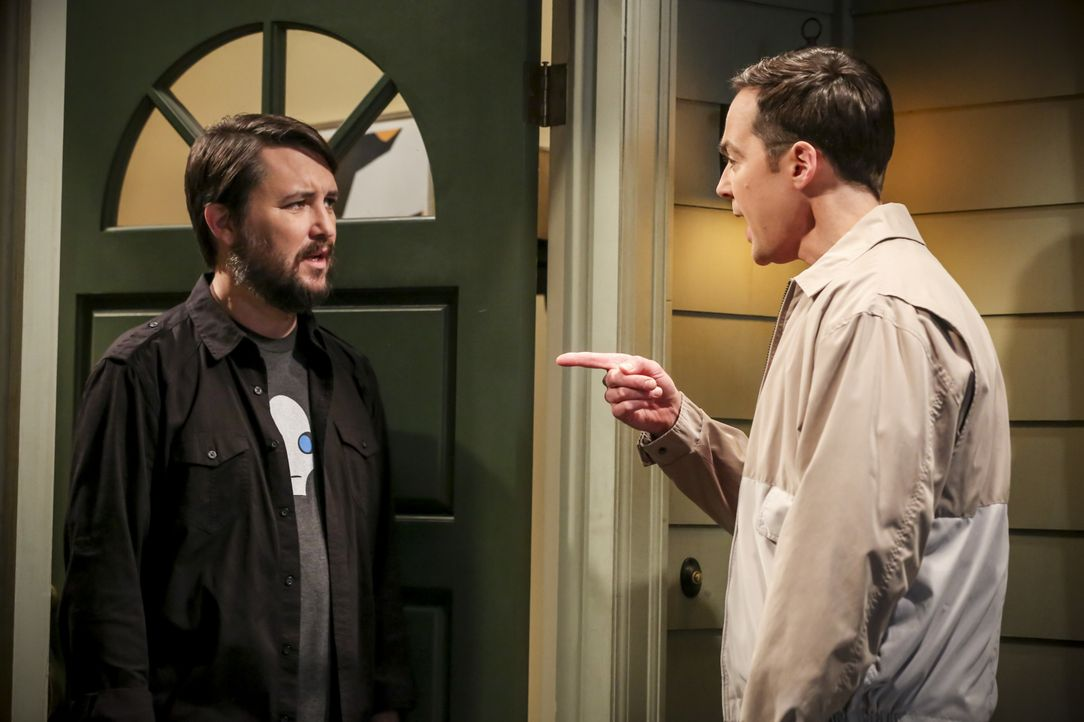 Wil Wheaton (Wil Wheaton, l.); Sheldon Cooper (Jim Parsons, r.) - Bildquelle: Michael Yarish 2019 CBS Broadcasting, Inc. All Rights Reserved / Michael Yarish