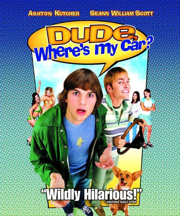 EY MANN - WO IS' MEIN AUTO!!? - Plakatmotiv - mit Ashton Kutcher, l. und Seann William Scott, r. - Bildquelle: 2000 - 20th Century Fox - All Rights Reserved.