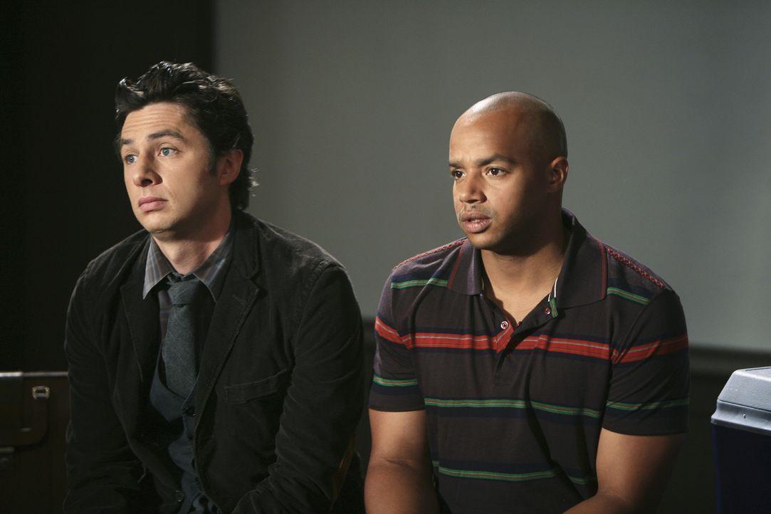 Unsere Vorbilder: J.D. (Zach Braff, l.) und Turk (Donald Faison, r.) ... - Bildquelle: Touchstone Television