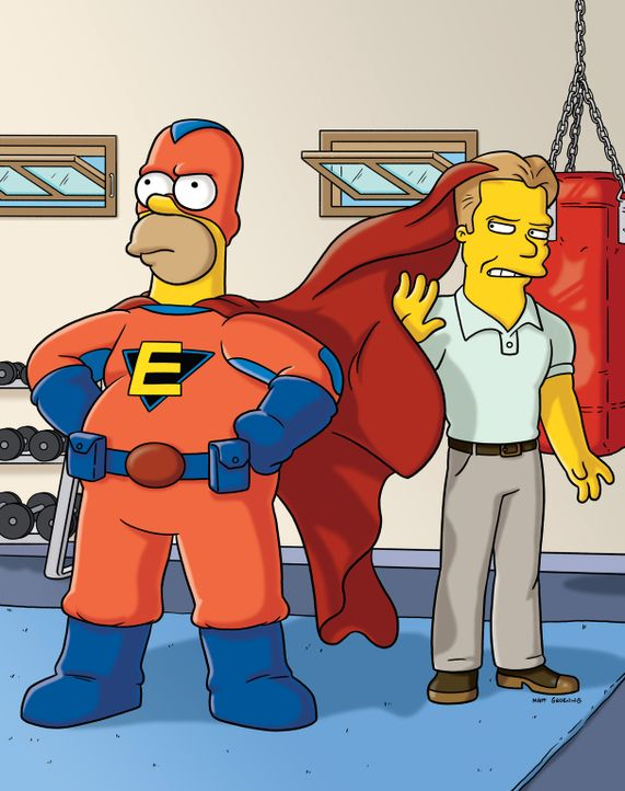 """Bart und Milhouse überzeugen den Comic-Verkäufer, sein Werk """"Everyman"""" zu veröffentlichen. Es wird ein Super-Hit und schnell ist klar, dass die C... - Bildquelle: und TM Twentieth Century Fox Film Corporation - Alle Rechte vorbehalten"""