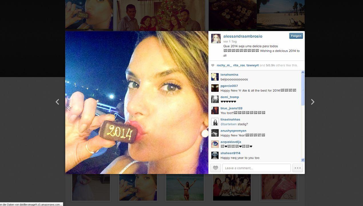 Neujahr2014-Alessandra-Ambrosio-instagram-com-Alessandra-Ambrosio - Bildquelle: instagram.com / Alessandra Ambrosio