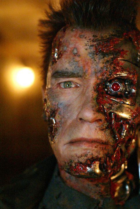 Die einzige Hoffnung, die Welt vor dem Untergang zu retten, ist eine technisch veralterte Replik des Terminators (Arnold Schwarzenegger) ... - Bildquelle: 2004 Sony Pictures Television International. All Rights Reserved.