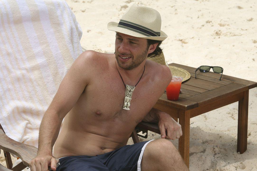 Freut sich, Elliot im Bikini anzusehen: J.D. (Zach Braff) ... - Bildquelle: Touchstone Television