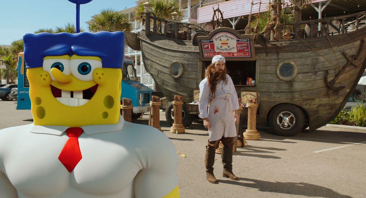 Ohne das geheime Krabbenburger-Rezept, das geklaut wurde, ist Bikini Bottom für immer verloren. Spongebob (l.), der selbst verdächtigt wird, muss je... - Bildquelle: (2016) Paramount Pictures and Viacom International Inc. All Rights Reserved. SPONGEBOB SQUAREPANTS is the trademark of Viacom International Inc.