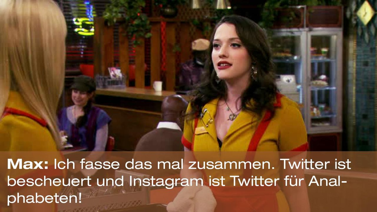 2-broke-girls-zitat-staffel2-episode2-glueckskette-max-instagram-warnerpng 1600 x 900 - Bildquelle: Warner Brothers Entertainment Inc.