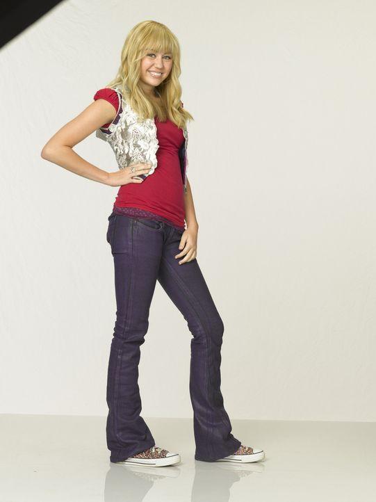 Teenie-Star Hannah Montana ist in Wirklichkeit die junge Schülerin Miley Stewart (Miley Cyrus). Außer ihrem Vater, ihrem Bruder und ihrer besten F... - Bildquelle: Sam Emerson Walt Disney Pictures.  All Rights Reserved
