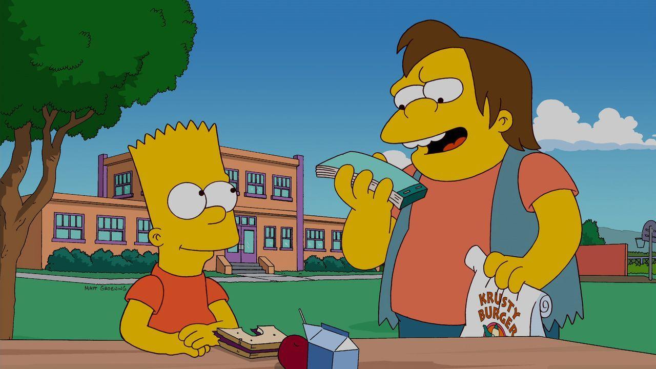 Bart (l.) hat eine geeignete Therapie gefunden, um Nelson (r.) endlich das Rowdytum auszutreiben ... - Bildquelle: und TM Twentieth Century Fox Film Corporation - Alle Rechte vorbehalten