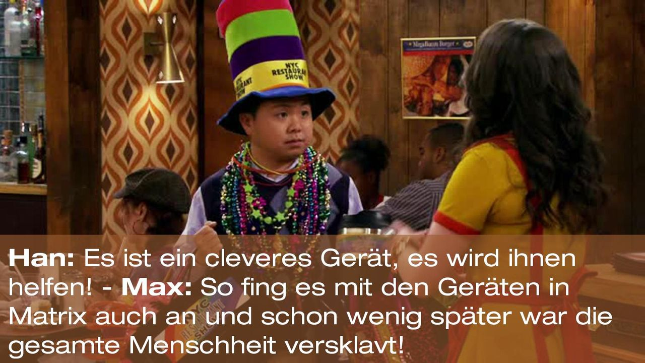 2-broke-girls-zitat-staffel2-episode2-glueckskette-max-matrix-warnerpng 1600 x 900 - Bildquelle: Warner Brothers Entertainment Inc.