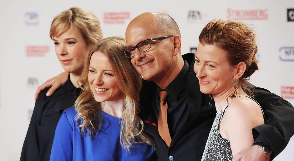 Premiere-Stromberg-Diana-Staehly-Milena-Dreissig-Christoph-Maria-Herbst-Tatjana-Alexander-14-02-18-dpa - Bildquelle: dpa