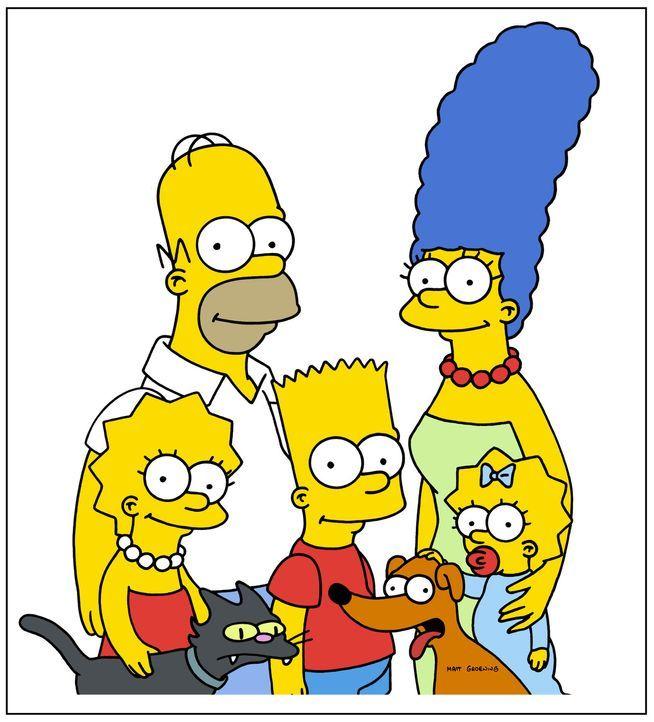 (19. Staffel) - Eine fast normale Familie: (v.l.n.r.) Lisa, Homer, Bart, Marge und Maggie Simpson ... - Bildquelle: und TM Twentieth Century Fox Film Corporation - Alle Rechte vorbehalten