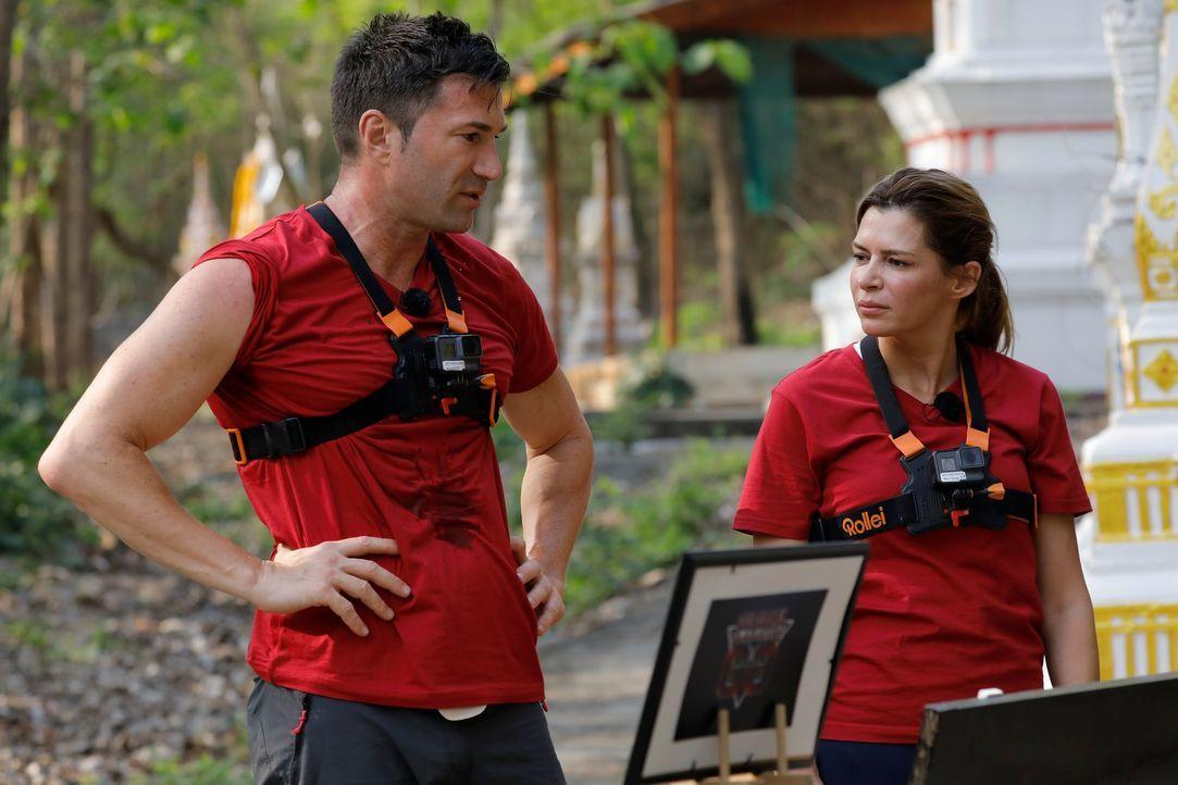 Global Gladiators - Lucas Cordalis und Sabia Boulahrouz - Bildquelle: ProSieben/Richard Hübner