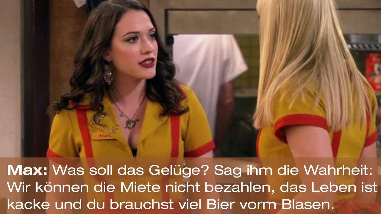 2-broke-girls-zitat-quote-staffel2-episode12-breite-weihnachten-max-wahrheit-warnerpng 1600 x 900 - Bildquelle: Warner Bros. International Television