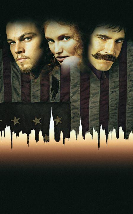 """Der irische Einwanderersohn Amsterdam Vallon (Leonardo DiCaprio, l.) hat noch eine Rechnung mit dem Gangsterboss Bill """"The Butcher"""" Cutting (Daniel... - Bildquelle: Miramax Films"""