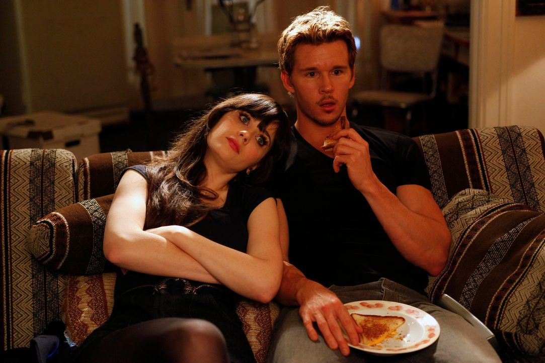 Ein ganz besonderer Valentinstag: Jess (Zooey Deschanel, l.) und Oliver (Ryan Kwanten, r.) ... - Bildquelle: 20th Century Fox