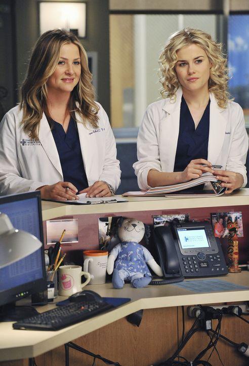 Ein harter Arbeitstag wartet auf Arizona (Jessica Capshaw, l.) und Dr. Lucy Fields (Rachel Taylor, r.) ... - Bildquelle: ABC Studios