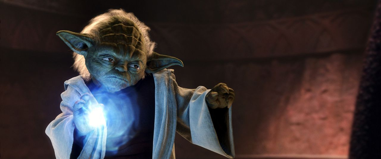 """Schon bald erkennt der weise Jedi Yoda: """"Begonnen der Klonkrieg hat"""" ... - Bildquelle: Lucasfilm Ltd. & TM. All Rights Reserved."""
