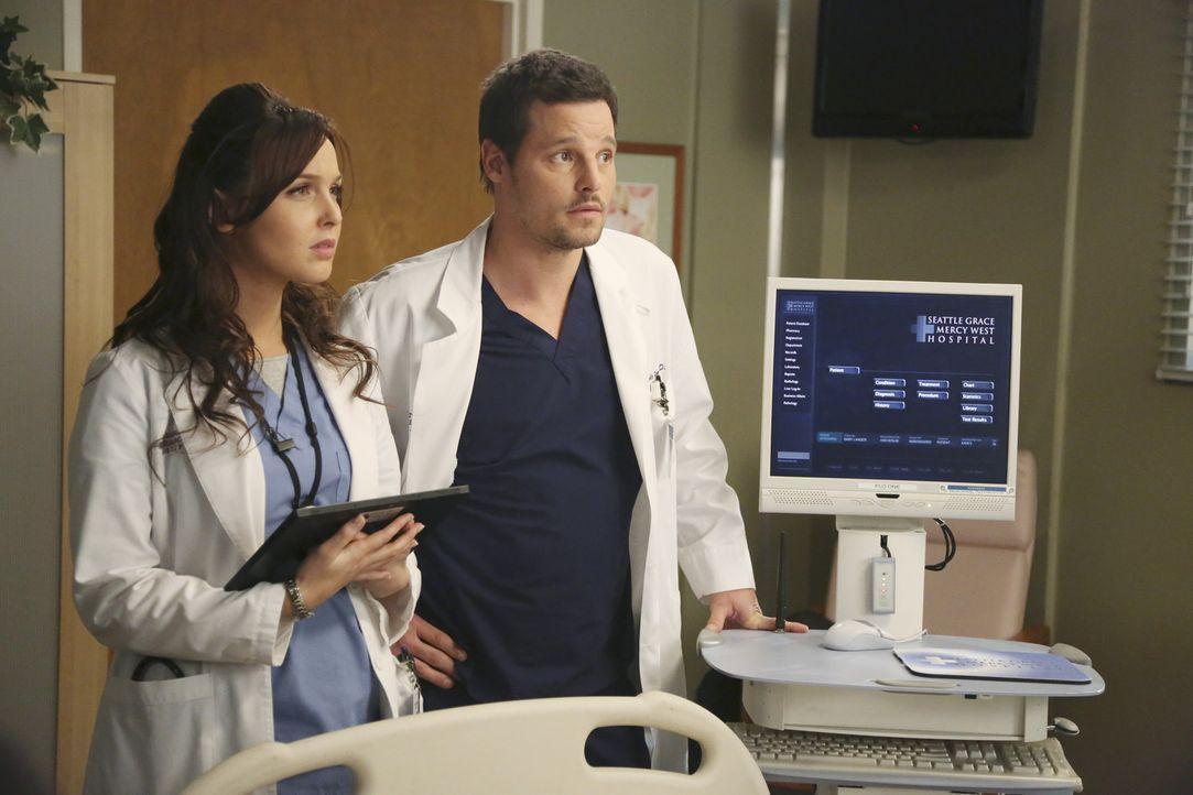 Dr. Alex Karev (Justin Chambers, r.) und Dr. Jo Wilson (Camilla Luddington, l.) verstehen sich nicht nur privat gut. Auch in der Klinik müssen sie... - Bildquelle: ABC Studios
