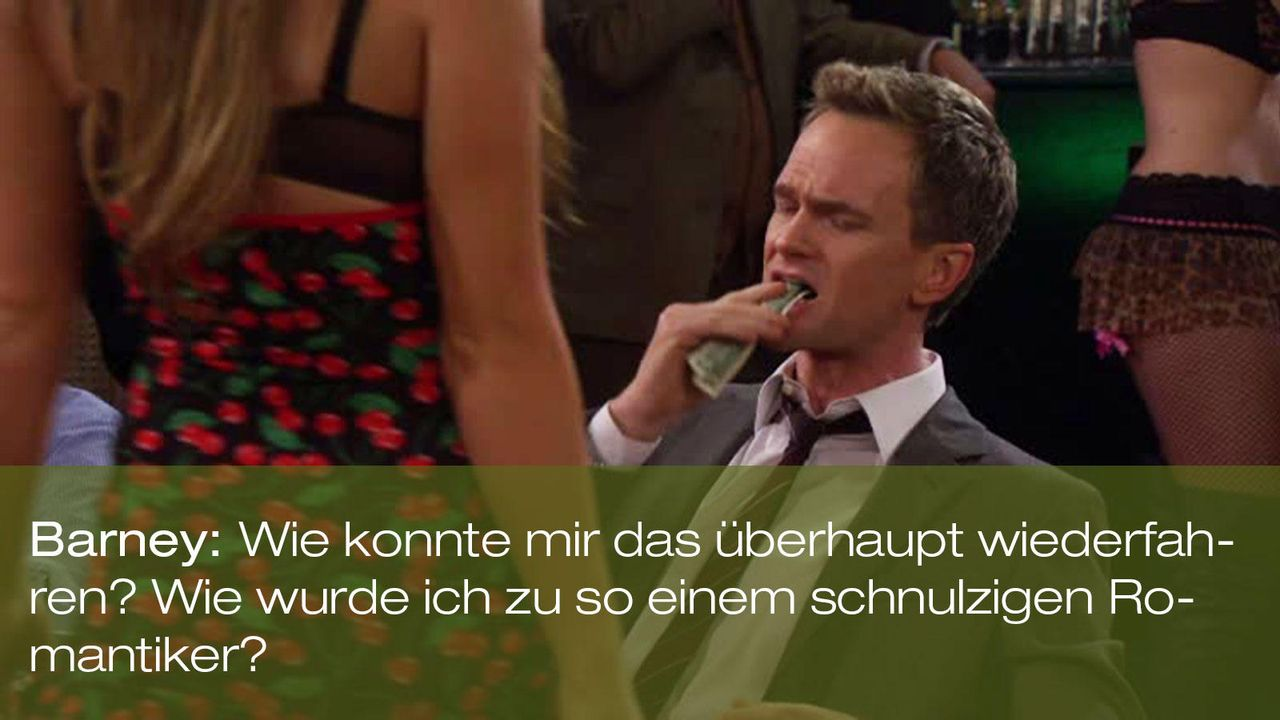 how-i-met-your-mother-zitat-episode-18-karma-barney-romantiker-foxjpg 1600 x 900 - Bildquelle: Fox