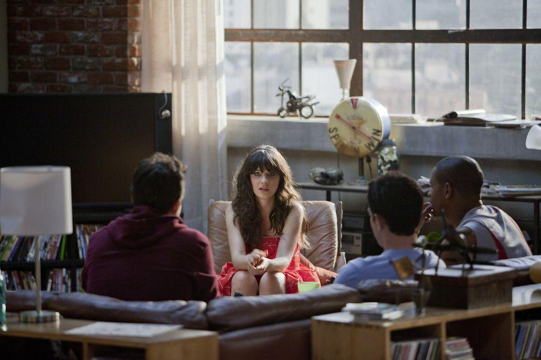Als sie sich von ihrem Freund trennt, beginnt für Jess (Zooey Deschanel, 2.v.l.) ein neues Leben - und zwar in einer Männer-WG ... - Bildquelle: 20th Century Fox