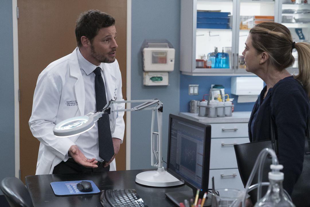 Dr. Alex Karev (Justin Chambers, l.); Dr. Meredith Grey (Ellen Pompeo, r.) - Bildquelle: Eric McCandless ABC Studios
