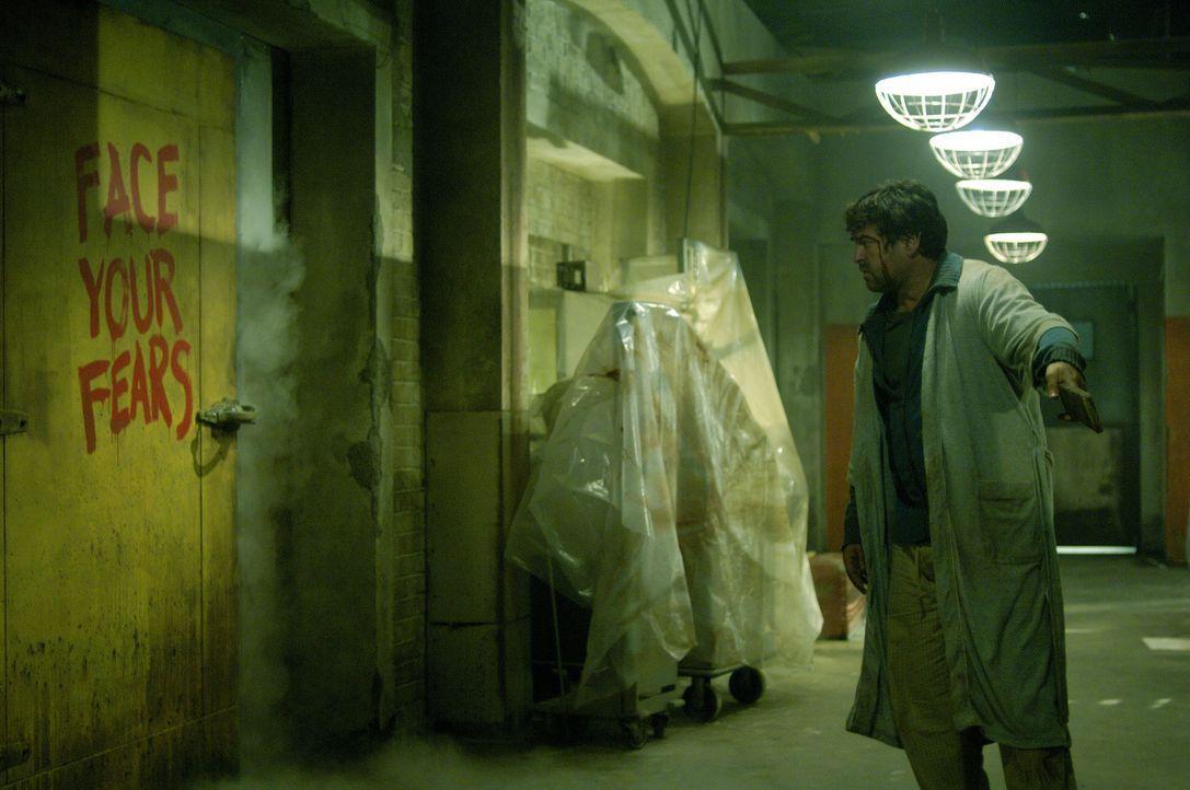 Der verbitterte Jeff (Angus Macfadyen) erhält die Chance, sich für den Unfalltod seines Sohnes zu rächen. Jigsaw präsentiert ihm die Schlüsselp... - Bildquelle: Kinowelt Filmverleih GmbH