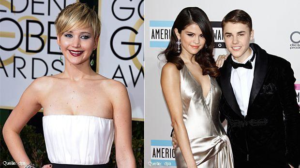 Jennifer-Lawrence-Top-dpa-Justin-Bieber-Selena-Gomez-Flop-dpa - Bildquelle: dpa