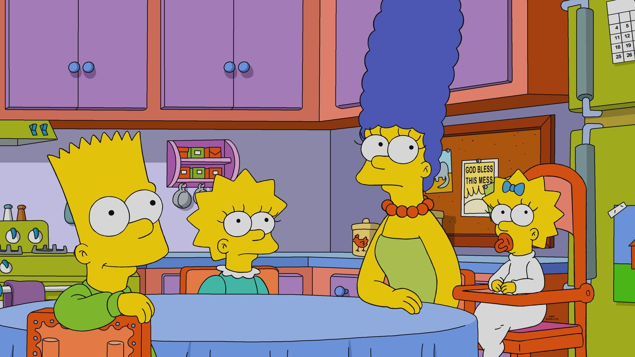 (v.l.n.r.) Bart; Lisa; Marge; Maggie - Bildquelle: 2020 by Twentieth Century Fox Film Corporation.