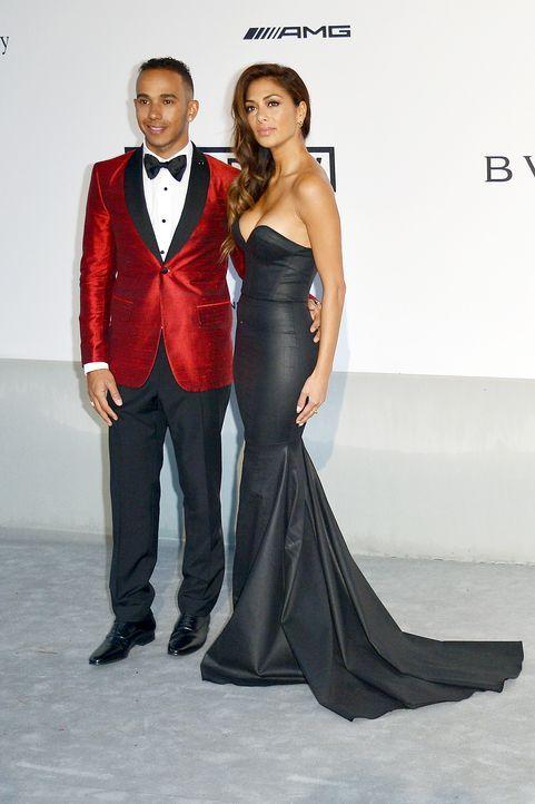 Cannes-Filmfestival-amfAR-Lewis-Hamilton-Nicole-Scherzinger-140522-AFP - Bildquelle: AFP
