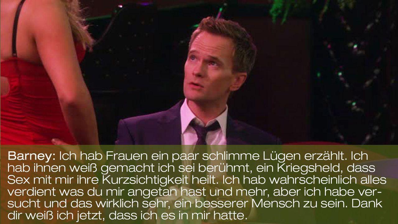 how-i-met-your-mother-zitat-episode-18-karma-barney-luegen-fox 1600 x 900 - Bildquelle: Fox