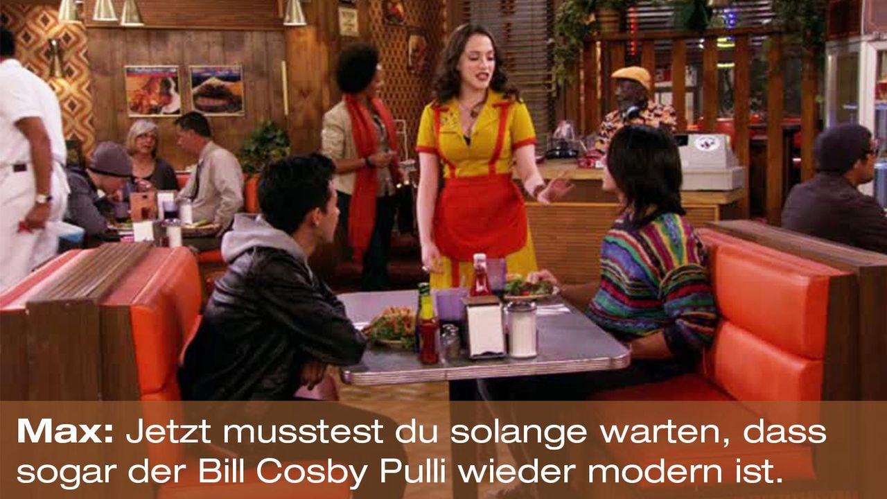 2-broke-girls-zitat-quote-staffel2-episode9-boss-max-billcosby-warnerpng 1600 x 900 - Bildquelle: Warner Brothers