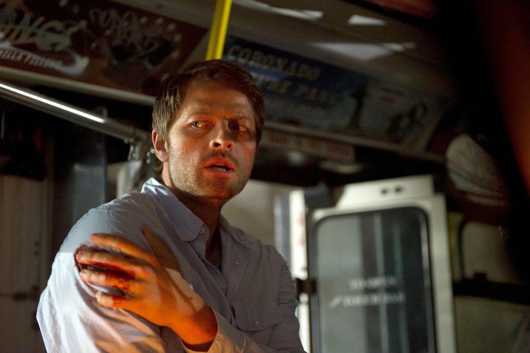 Castiel (Misha Collins) bringt sich in Schwierigkeiten, als er eine hübsche Frau nach Hause begleitet ... - Bildquelle: 2013 Warner Brothers