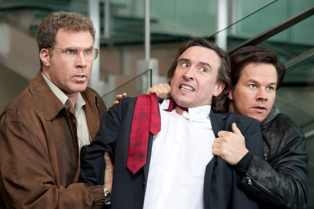 Der Investmentbanker David Ershon (Steve Coogan, M.) gerät mitten in Detective Allen Gambles (Will Ferrell, l.) und Willen Detective Terry Hoitz' (... - Bildquelle: 2010 Columbia Pictures Industries, Inc. All Rights Reserved.